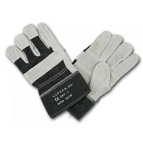 American split cowhide glove reinforced in denim canvas Cipisa 1 pair