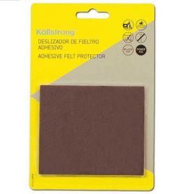 Adhesive felt slipper brown 100x85mm Kallstrong
