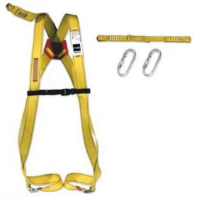 Fall protection harness dorsal + tie + 2 carabiners
